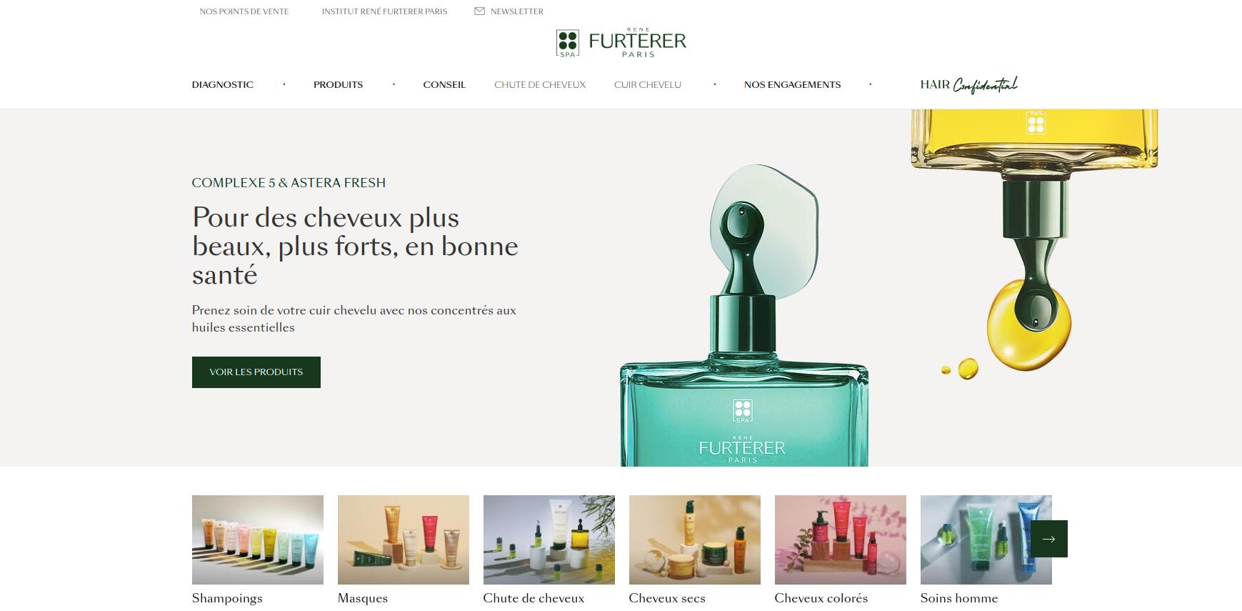 site web rene furterer